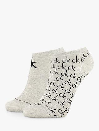 Calvin Klein Callie Liner Trainer Socks, Pack of 2, Grey