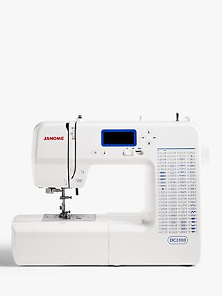 Janome DC3100 Sewing Machine, White