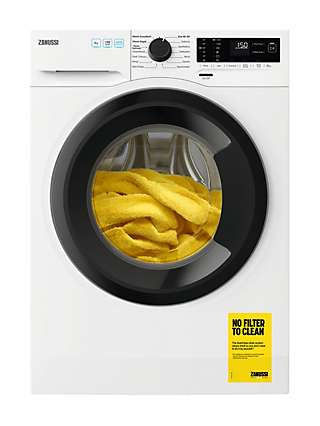 Zanussi ZWF843A2DG Freestanding Washing Machine, 8kg Load, 1400 Spin, White