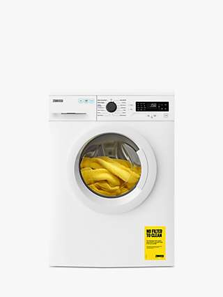 Zanussi ZWF825B4PW Freestanding Washing Machine, 8kg Load, 1200rpm Spin, White