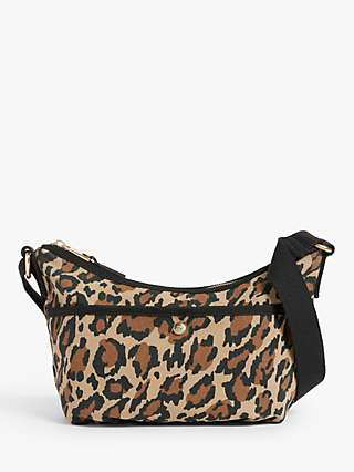 AND/OR Leopard Print Soft Canvas Cross Body Bag, Multi
