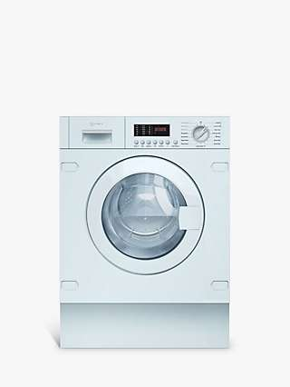 Neff V6540X2GB Integrated Washer Dryer, 7kg Wash/4kg Dry Load, 1400rpm Spin, White
