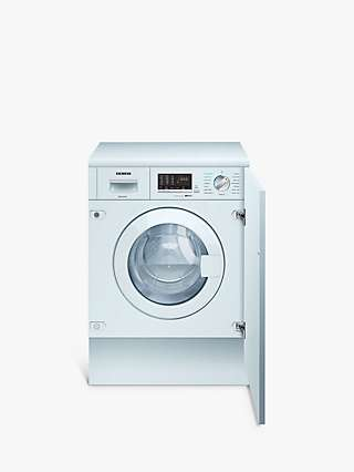 Siemens iQ500 WK14D542GB Integrated Washer Dryer, 7kg/4kg Load, 1400rpm Spin, White