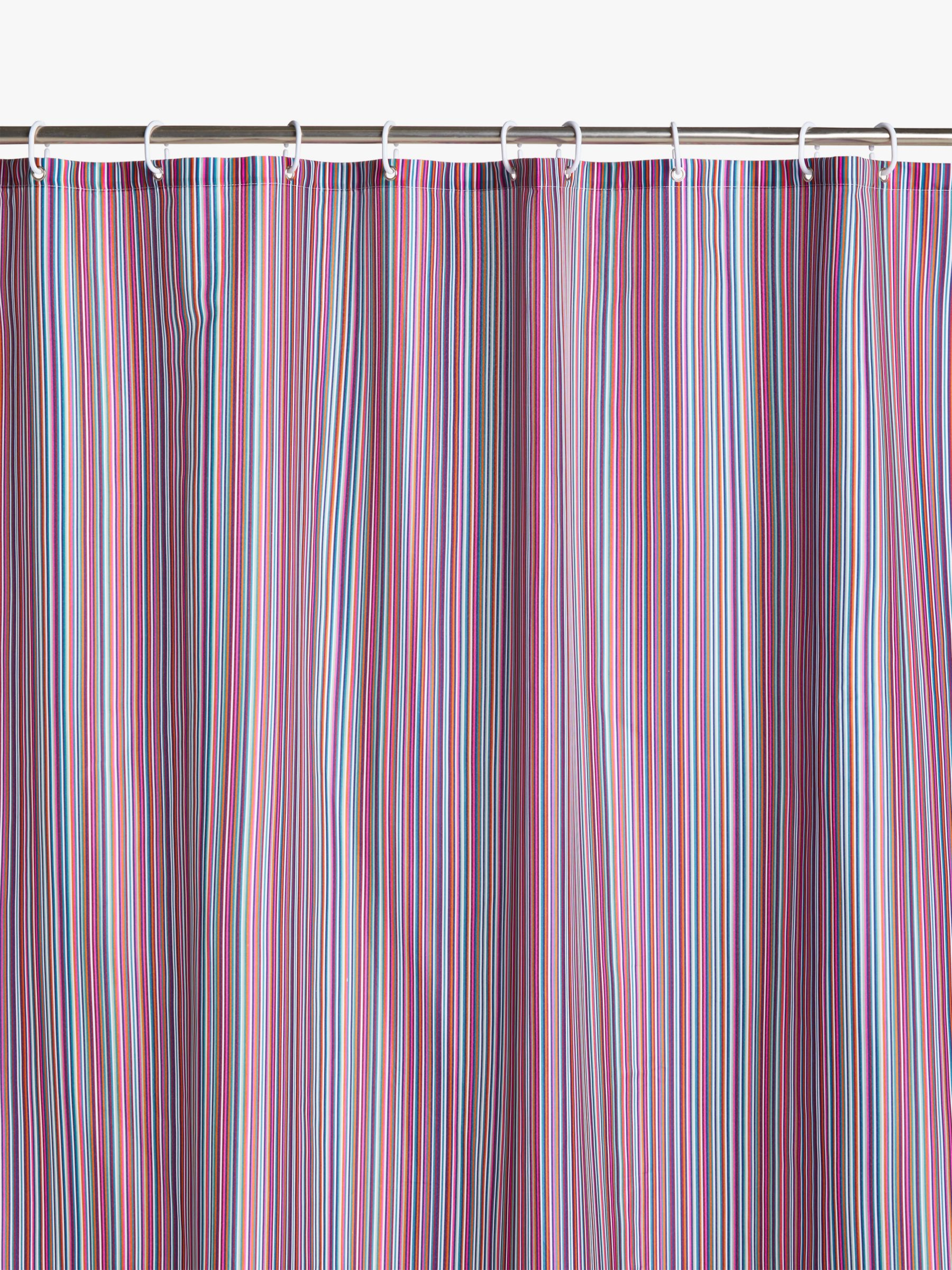 John Lewis & Partners Stripe Recycled Polyester Shower Curtain
