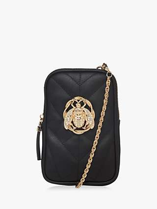 Dune Darrby Quilted Mini Cross Body Bag, Black