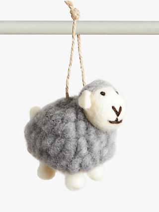 John Lewis & Partners Felt Sheep Easter Tree Decoration