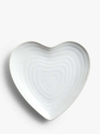 Buy John Lewis & Partners Textured Heart Stoneware Side Plate, 22.5cm, White Online at johnlewis.com