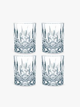Nachtmann Noblesse Crystal Cut Glass Tumblers, Set of 4, 295ml, Clear
