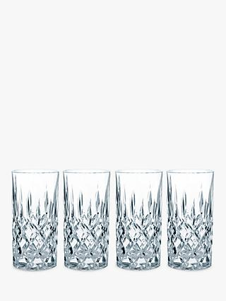 Nachtmann Noblesse Crystal Cut Glass Highballs, Set of 4, 375ml, Clear