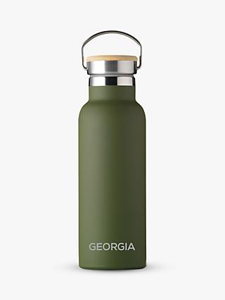 Treat Republic Personalised Stainless Steel & Bamboo Drinks Bottle, 500ml