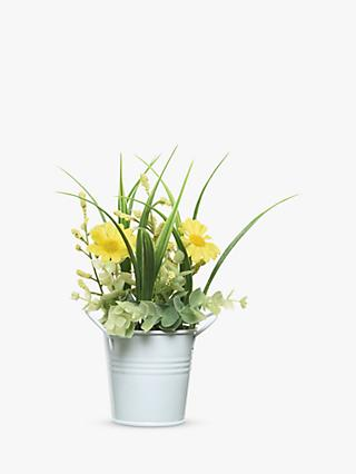 John Lewis & Partners Artificial Flowers in Metal Pot