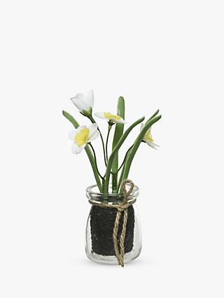 John Lewis & Partners Artificial Flowers in Glass Pot