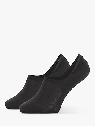 Calvin Klein No Show Liner Socks, Pack of 2, One Size, Black