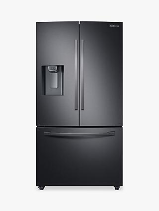 Samsung RF23R62E3B1 American-Style Freestanding 75/25 Fridge Freezer, 91cm Wide, Stainless Black