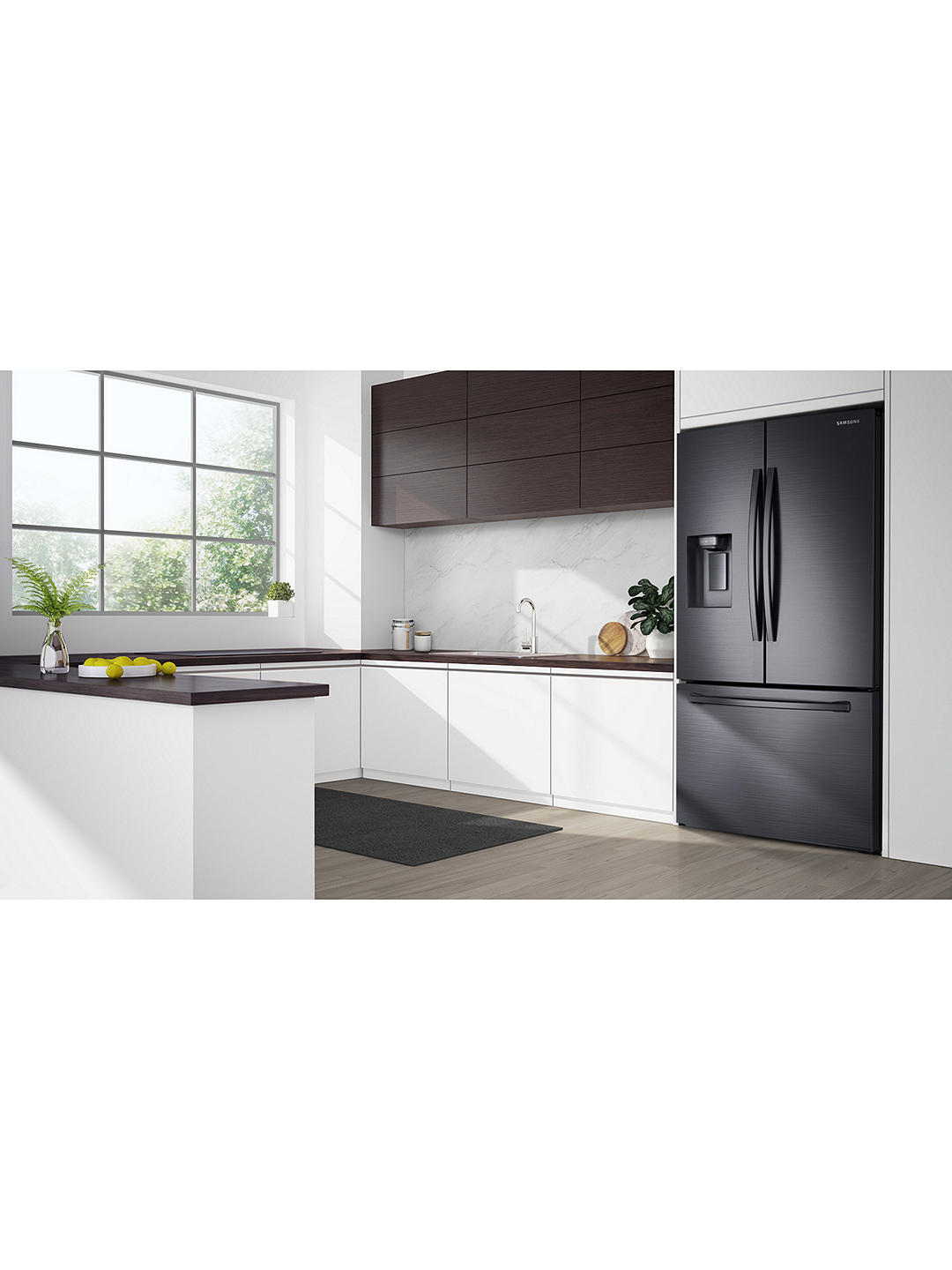 Buy Samsung RF23R62E3B1 American-Style Freestanding 75/25 Fridge Freezer, 91cm Wide, Stainless Black Online at johnlewis.com