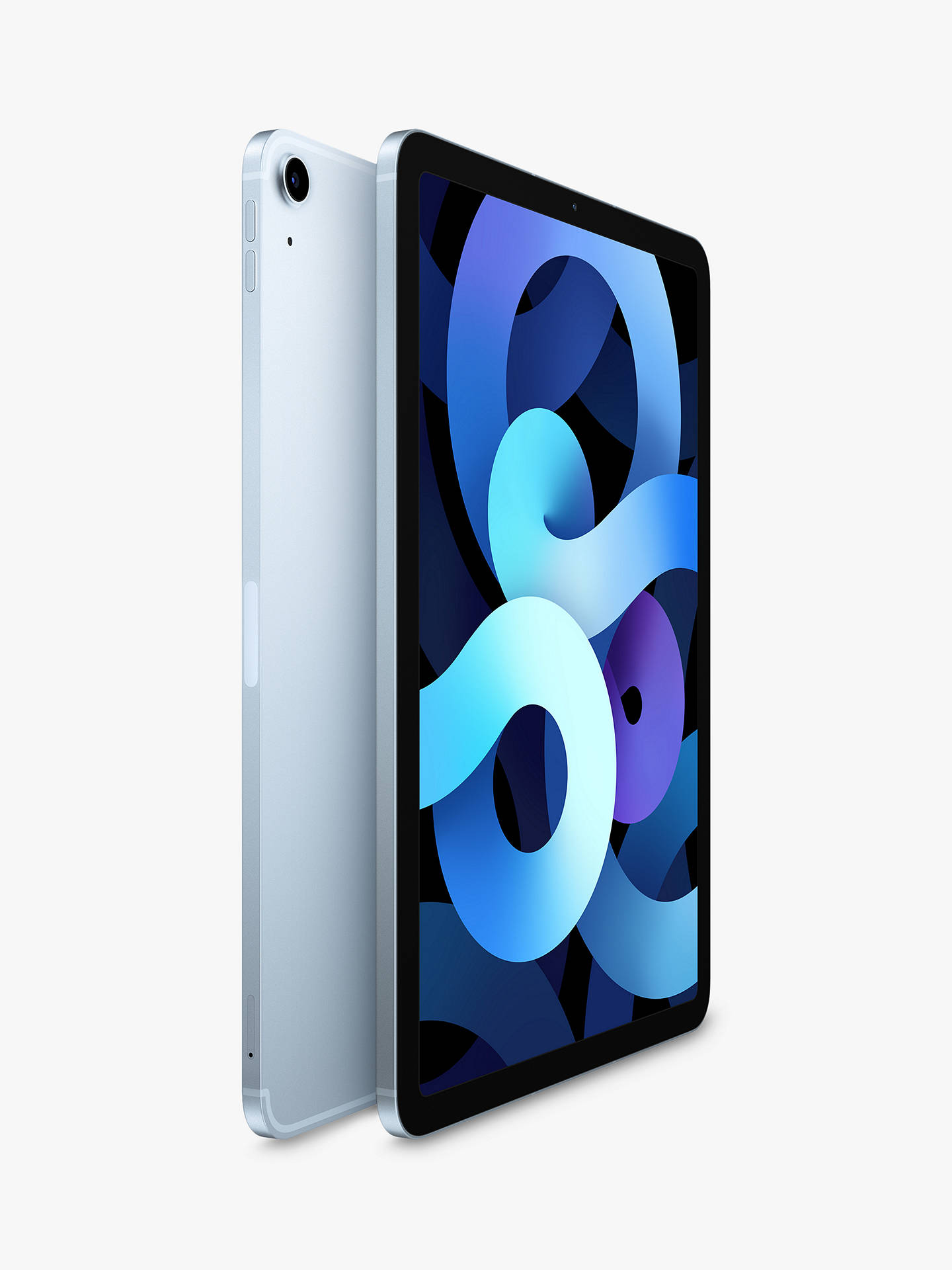 "Buy 2020 Apple iPad Air 10.9"", A14 Bionic Processor, iOS, Wi-Fi & Cellular, 64GB, Sky Blue Online at johnlewis.com"