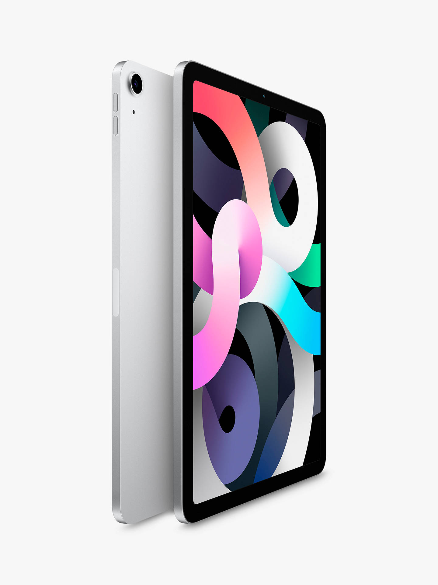 "Buy 2020 Apple iPad Air 10.9"", A14 Bionic Processor, iOS, Wi-Fi, 64GB, Silver Online at johnlewis.com"