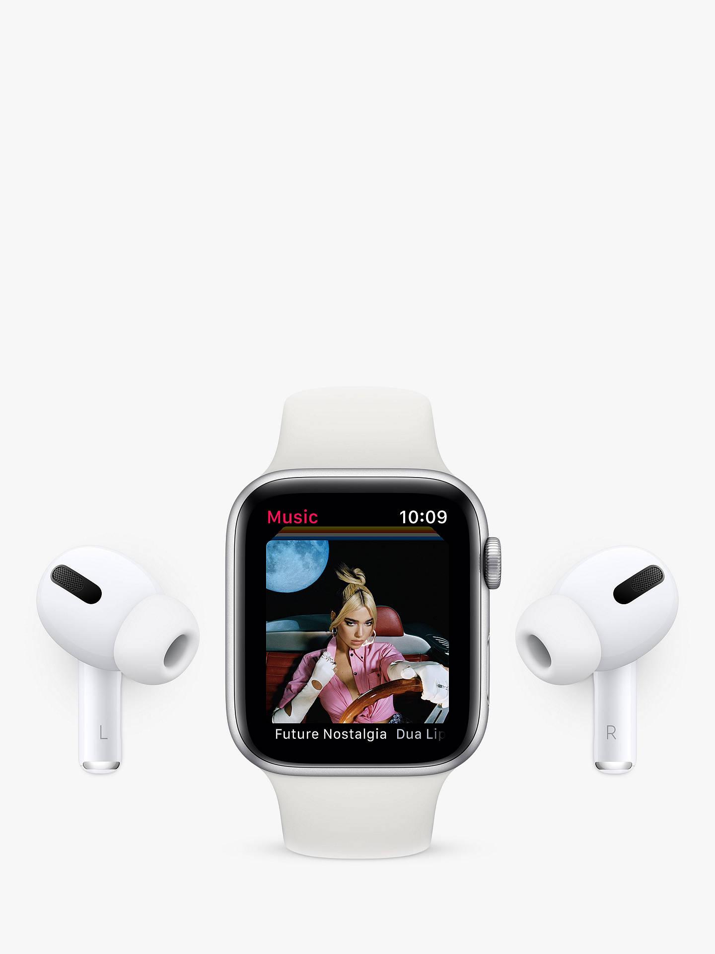 Apple Watch Series 6 Gps Cellular 40mm Gold Aluminium Case With Pink Sand Sport Band Regular At John Lewis Partners
