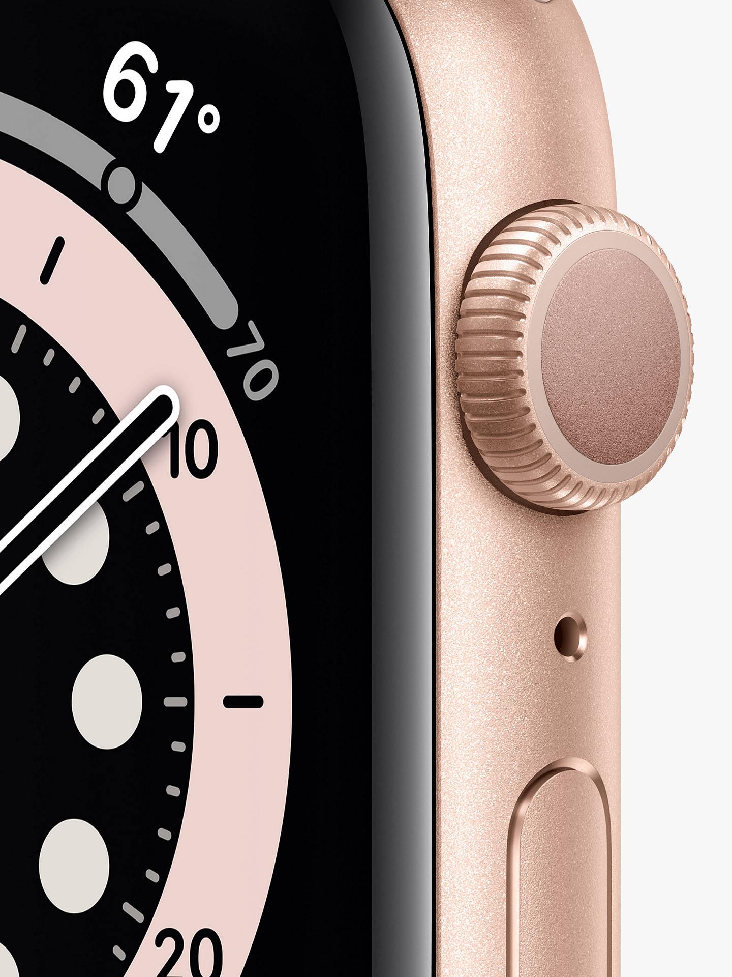Apple Watch Series 6 Gps 40mm Gold Aluminium Case With Pink Sand Sport Band Regular At John Lewis Partners