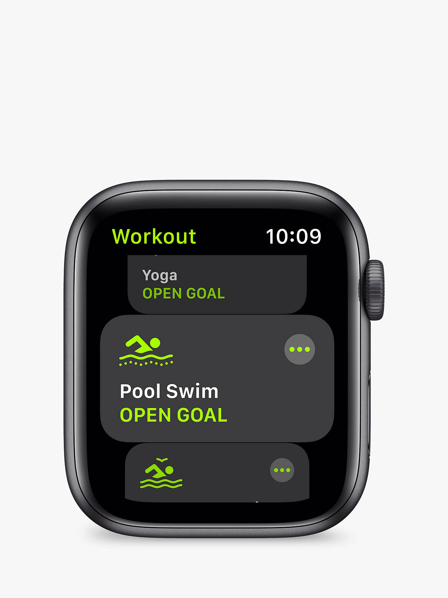 Buy Apple Watch SE GPS, 44mm Space Grey Aluminium Case with Black Sport Band - Regular Online at johnlewis.com