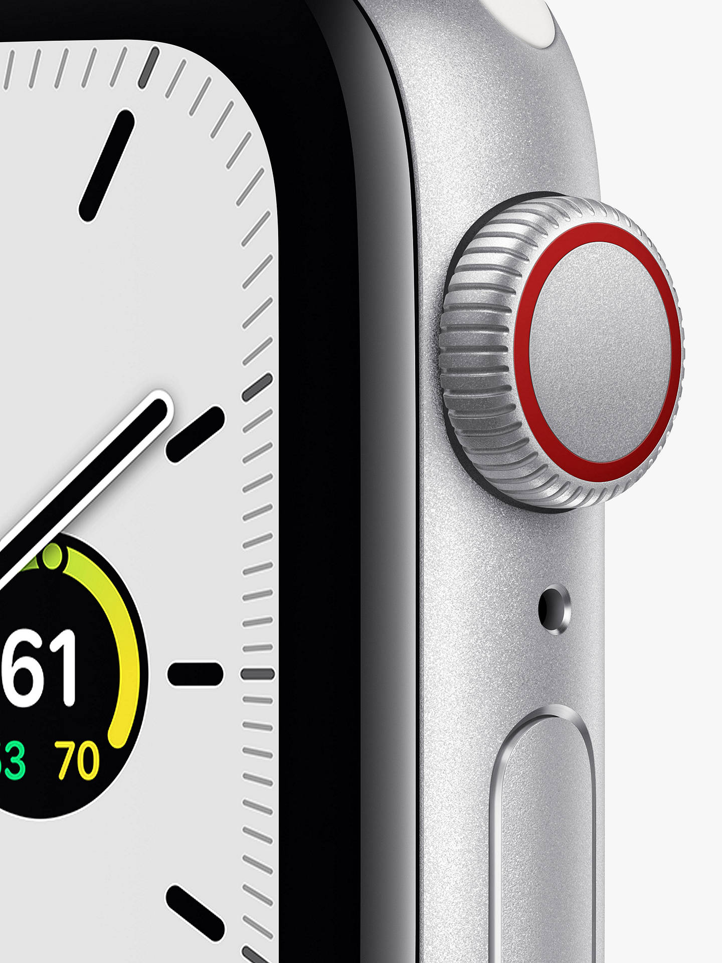 Buy Apple Watch SE GPS + Cellular, 40mm Silver Aluminium Case with White Sport Band - Regular Online at johnlewis.com