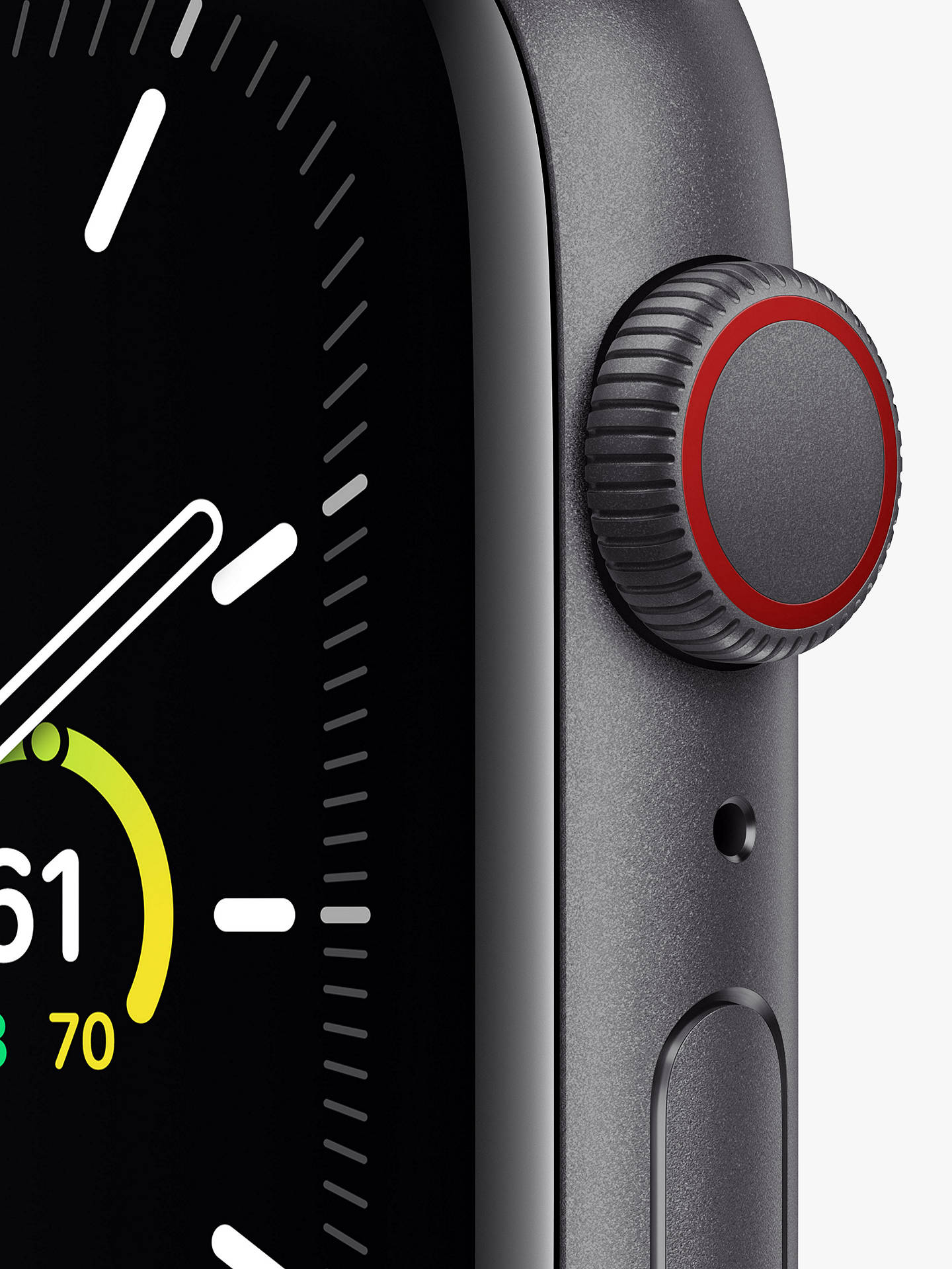 Buy Apple Watch SE GPS + Cellular, 44mm Space Grey Aluminium Case with Black Sport Band - Regular Online at johnlewis.com