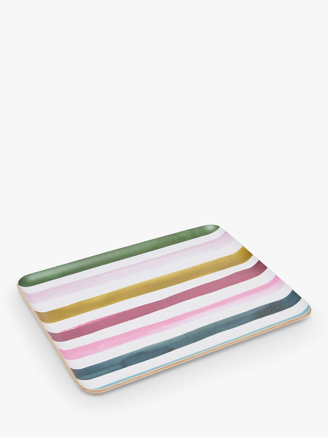 Joules Large Striped Willow Wood Tray, 36.5cm, Multi