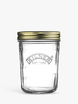 Kilner Screw Top Wide Mouth Jam & Preserves Glass Jar, 350ml, Clear