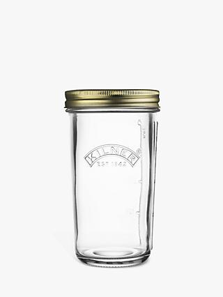 Kilner Screw Top Wide Mouth Jam & Preserves Glass Jar, 500ml, Clear