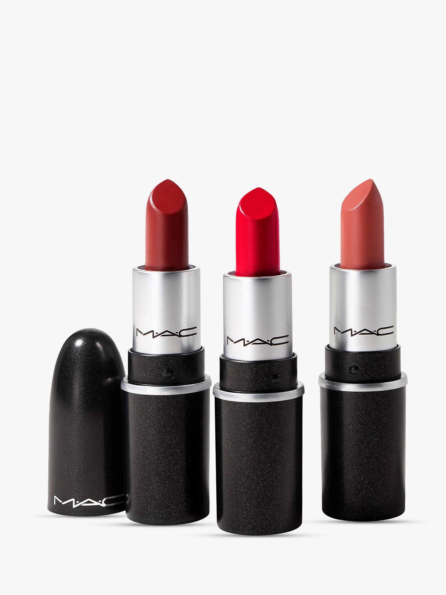 Buy MAC Fireworked Like A Charm Mini Lipstick Makeup Gift Set, Red Online at johnlewis.com