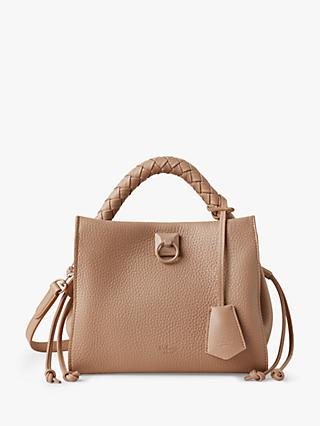 Mulberry Small Iris Heavy Grain Leather Shoulder Bag, Light Salmon