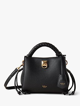 Mulberry Mini Iris Heavy Grain Leather Shoulder Bag