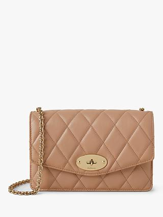Mulberry Small Darley Quilted Shiny Calf Chain Clutch Bag