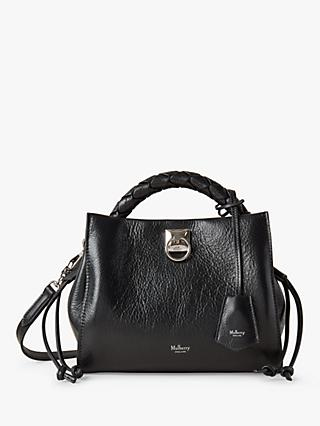 Mulberry Small Iris High Shine Leather Shoulder Bag, Black