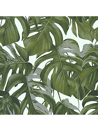 Galerie Tropical Leaf Print Vinyl Wallpaper