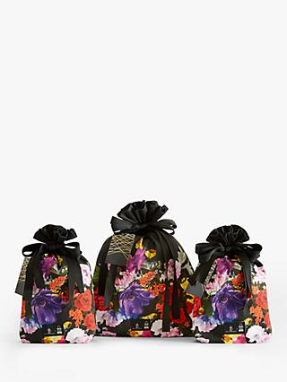 Great British Designer Wrapping Bags in Floral Decoupaged by Preen, Set of 3