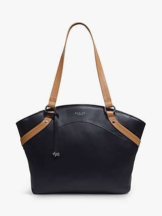 Radley Chester Road Colour-Block Leather Tote Bag, Black