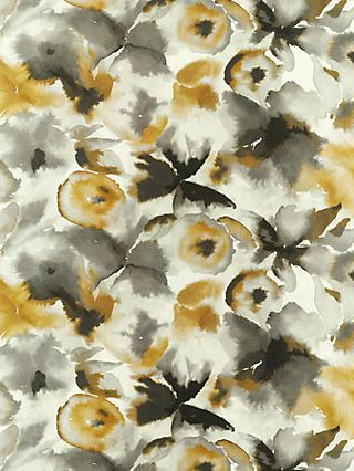 Harlequin Flores Furnishing Fabric, Charcoal/Mustard