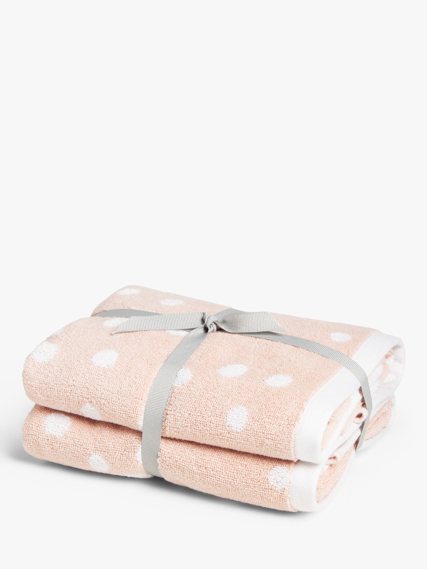 ANYDAY John Lewis & Partners Spot Hand Towels, Pack of 2, Watermelon