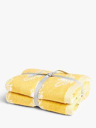 ANYDAY John Lewis & Partners Bee Hand Towels, Pack of 2