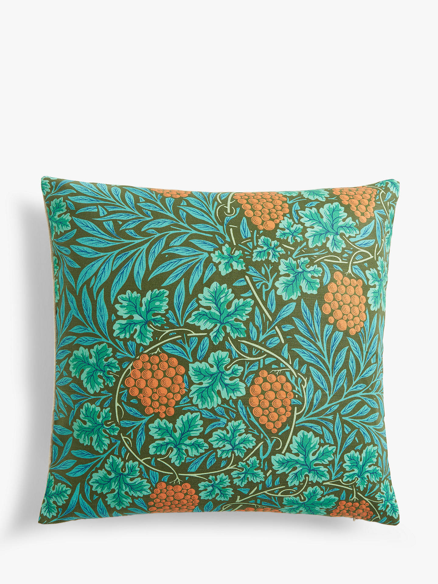 Buy Morris & Co. Vine Cushion, Dark Olive Online at johnlewis.com