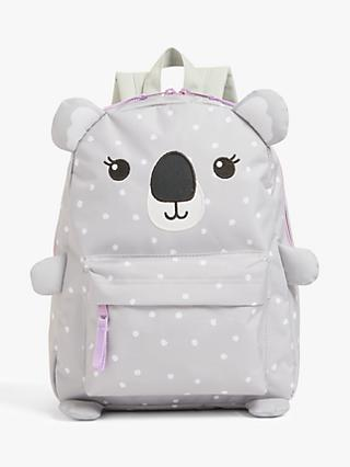 John Lewis & Partners Children's Koala Backpack, Grey