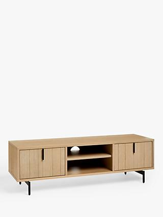"John Lewis & Partners Stave TV Stand for TVs up to 55"", Natural"