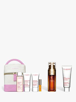 Clarins Hand and Nail Treatment Cream and Double Serum Bundle with Gift