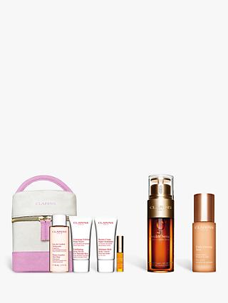 Clarins Double Serum and Extra-Firming Eye Serum Bundle with Gift