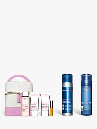 ClarinsMen Super Moisture Balm and HydraSculpt Moisturiser Bundle with Gift