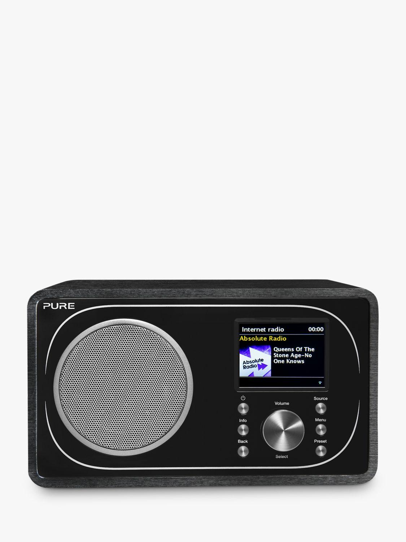 Pure Evoke F3 DAB/DAB+/FM/Internet Radio with Bluetooth, Black