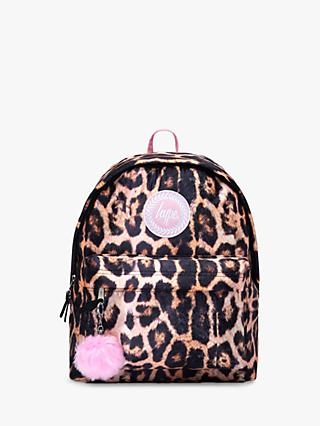 Hype Children's Leopard Backpack, Brown/Multi