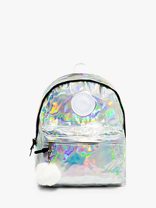 Hype Children's Holographic Backpack, Silver