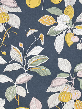 Buy John Lewis & Partners Edith Print Furnishing Fabric, Graphite Online at johnlewis.com